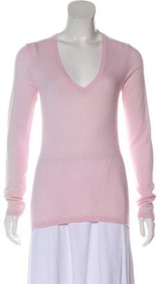 Loro Piana Cashmere Rib-Knit Trim Sweater