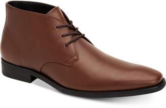 Calvin Klein Men's Rolando Dress Leather Chukka Boots Men's Shoes