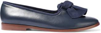 Mansur Gavriel Knotted Suede-trimmed Leather Loafers