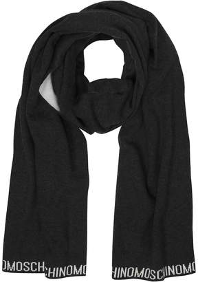 Moschino Two Tone Signature Wool Scarf