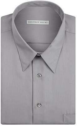 Geoffrey Beene Mens Dress Shirts Regular Fit Solid Sateen
