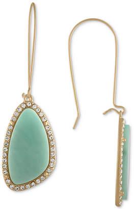 Rachel Roy Gold-Tone Blue Stone Drop Earrings
