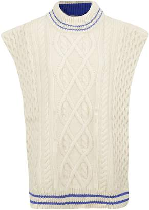 Maison Margiela Aran Knitted Vest