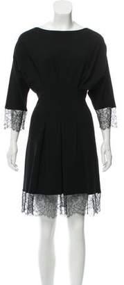 Francesco Scognamiglio Lace Accented Mini Dress
