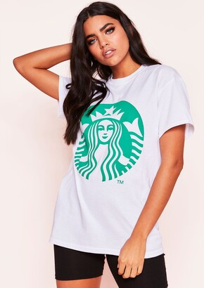 91cc989b Missy Empire Missyempire Zoey White Green Graphic T-Shirt