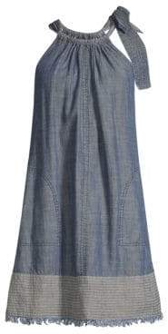 Trina Turk California Dreaming Chambray Halter Dress