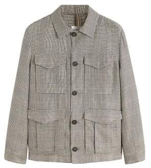 MANGO Contrasting pattern field jacket