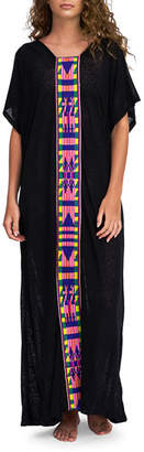 Pitusa Tribal Abaya Coverup Maxi Dress