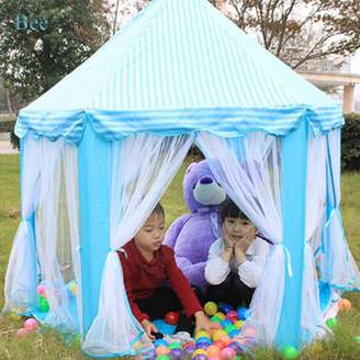 Bee Children Game Play Toys Tent, Indoor Large Playhouse, Folding Fairy Princess Castle Tent with Fixable Roof, Perfect Gift / Presents for Kids.