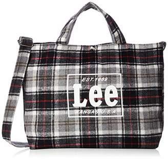 Lee (リー) - [リー] ショルダーバッグ Lee タータンチェック柄 2WAYトートバッグ L グレー