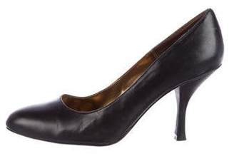 Chinese Laundry Leather Round-Toe Pumps