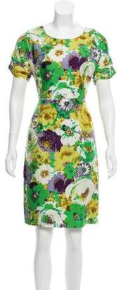 Blumarine Silk Flora Print Dress