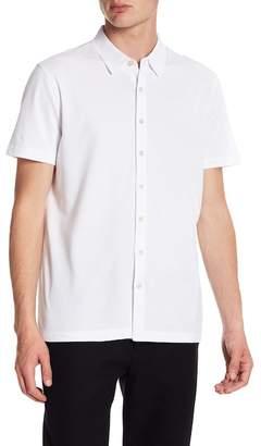 Perry Ellis Jacquard Knit Short Sleeve Regular Fit Shirt