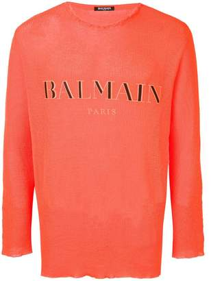 Balmain embroidered logo jumper
