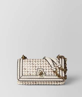 Bottega Veneta Mist Intrecciato Checker Olimpia Knot Bag