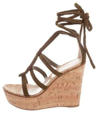 Gianvito Rossi Cayman Wrap-Around Wedges w/ Tags