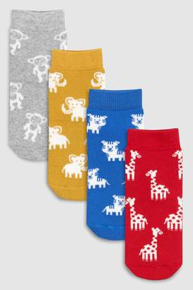 Next Boys Bright Animal Terry Thermal Socks Four Pack (Younger)