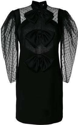 Givenchy Sheer Bow Mini Dress