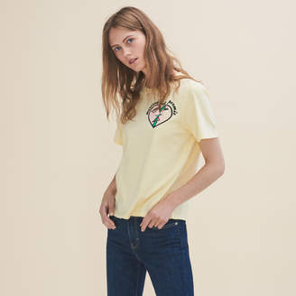 Maje Embroidered T-shirt Wednesday