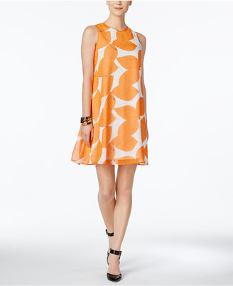 Nine West Printed Trapeze Dress $79 thestylecure.com