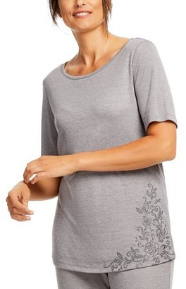 Gloria Vanderbilt Women's and Women's Plus Laura B Short Sleeve Sleep Top