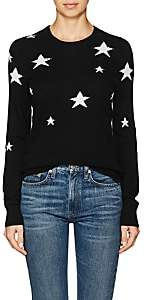 Barneys New York WOMEN'S STAR-PRINT CASHMERE SWEATER-BLACK SIZE M
