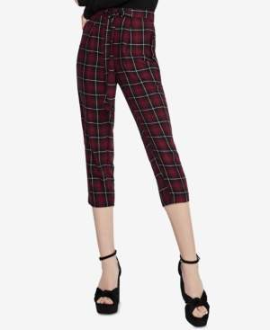 BCBGeneration Cropped Plaid Pants