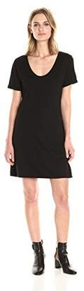 Michael Stars Women's Short Sleeve Dress with Back Detail