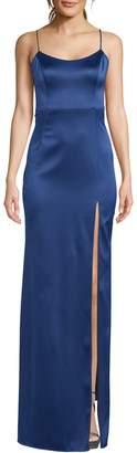 Xscape Evenings Satin Side Slit Dress