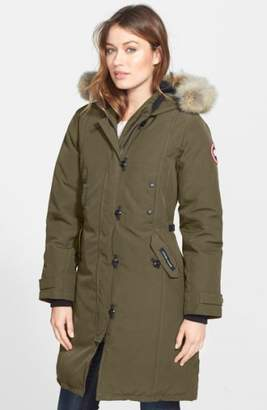 Canada Goose Kensington Slim Fit Down Parka with Genuine Coyote Fur Trim