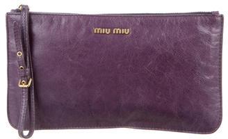 Miu MiuMiu Miu Leather Wristlet