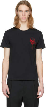 Alexander McQueen Black Skull Threads T-Shirt