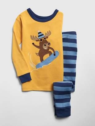 Gap Embroidered Moose PJ Set