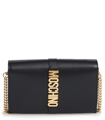MoschinoWomen's Moschino Leather Wallet On A Chain - Black