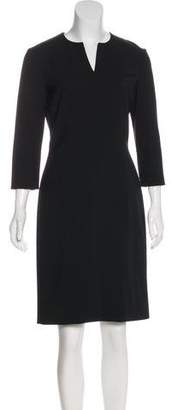 The Row Long Sleeve Sheath Dress