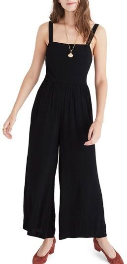 Women's Madewell Smocked Crop Jumpsuit