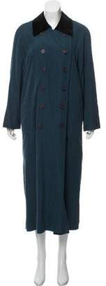 Halston Double-Breasted Trench Coat