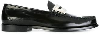 Givenchy metallic panel penny loafers