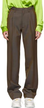 Maison Margiela Brown Grain de Poudre Trousers