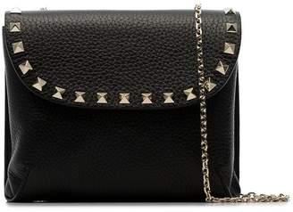 Valentino black Curve stud-embellished grained-leather bag