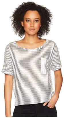 Three Dots Mojave Stripe Top Women's Short Sleeve Pullover