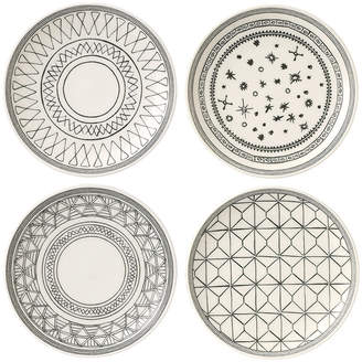 Royal Doulton Ellen DeGeneres Charcoal Grey Plates - 16cm - Set of 4