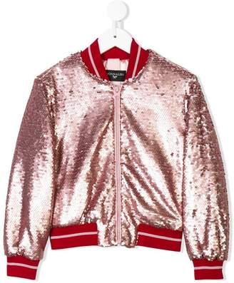 MonnaLisa Chic sequin embellished bomber jacket
