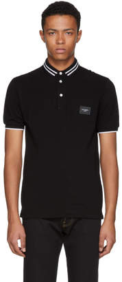 Dolce & Gabbana Black Logo Plaque Polo