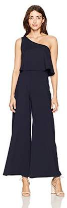 "Susana Monaco Women's Ilana One Shouldered Jumpsuit 30"" Inseam"