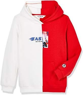 Retro Sport Kid Nation Kid's Stitching Hooded Sweatshirt for Boys and Girls XS