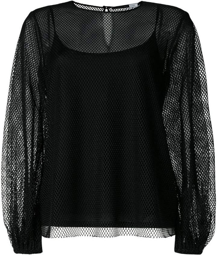 Sport Max Code mesh layered blouse