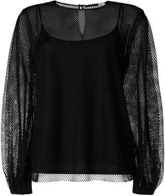 Sportmax Code mesh layered blouse