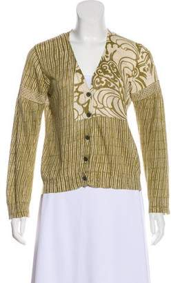 Dries Van Noten Knit Long Sleeve Cardigan