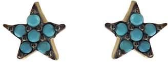 Wild Hearts - Turquoise Mini Star Ear Studs Gold